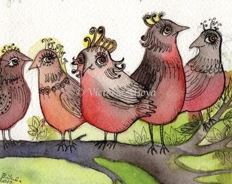 """Spring Birds 4x5"""""""