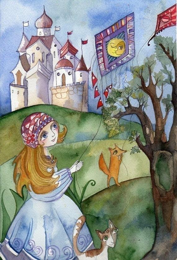 A Princess that loved Kites Print