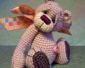 OOAK Thread Crochet Bear Pattern 3 (Chubby Cheeks and Chubby Tummy) by Jessica Lee's Little Creations