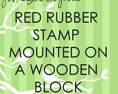 JLMould 5x5 Custom Red Rubber Stamp for Small Business Wedding DIY Project Choose With or Without Handle