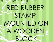 JLMould 5x3 or 3x5 Custom Red Rubber Stamp for Small Business Wedding DIY Project Choose With or Without Handle