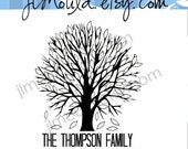 Save The Date Tree of Life  Wedding Return Address Custom Stamp 0087 (clear stamp)
