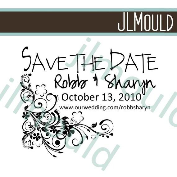 Save The Date Wedding Return Address Custom Stamp