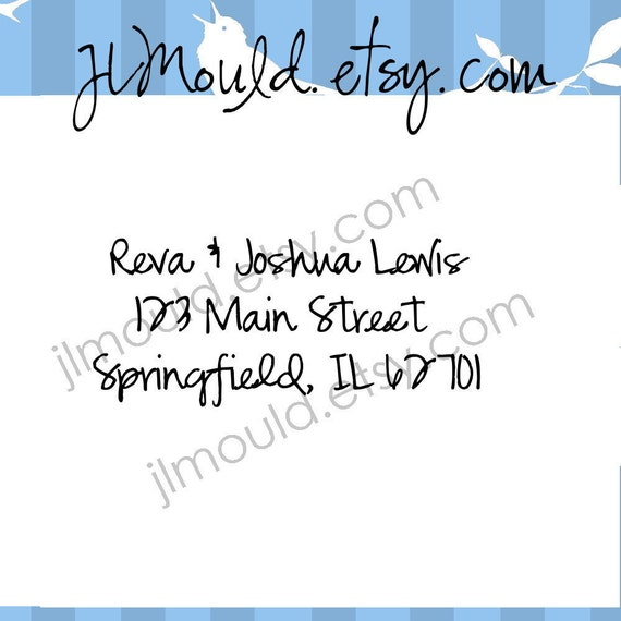 Return Address Wedding Calligraphy Mounted Wedding Clear Rubber Stamp 0088 (clear stamp)