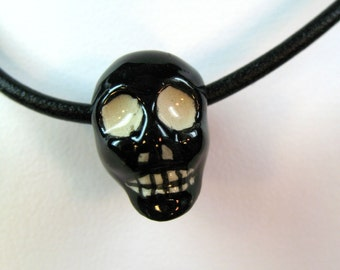Halloween Skull Necklace on cord