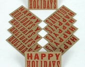 Reserved HAPPY HOLIDAYS mini Cards 30 pack