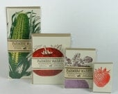 FARMERS MARKET FRESH PRODUCE LETTERPRESS GREETING CARD GIFT PACK