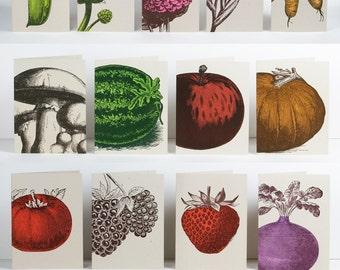 Farmers Market Letterpress Card Packs 18 designs 144 cards