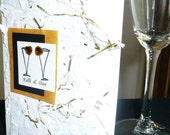 Wedding Anniversary Personalized Champagne Toast  card