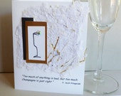 Wine Quote by F. Scott Fitzgerald  Greeting  Card
