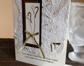 Handmade Wedding or Anniversary Card with Quote and Handmade Paper