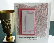 Bat Mitzvah Card or Invitation with Torah Motif and Quote