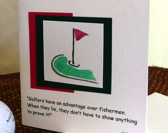 Golf and Fishing Quote Card