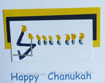 Happy Chanukkah Cards pack of 6 with envelopes