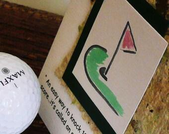 Handmade  Golf Quote Card