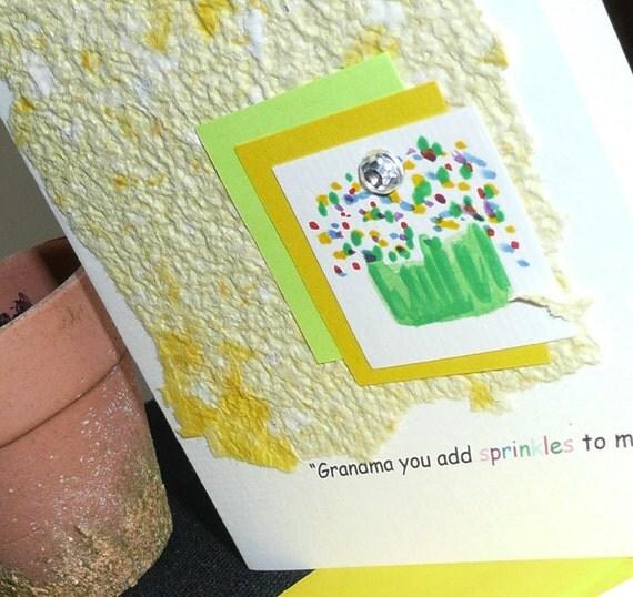 Grandmas add Sprinkles to our Lives Cupcake Card