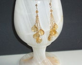 Reserved for Meeta: 2 Pairs of Apollo's Sun Drop Earrings in Citrine and Gold