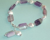 A Lovely Concert-  Amethyst and Pearl Bracelet