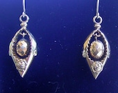 Antique Victorian 9ct gold earrings C1880