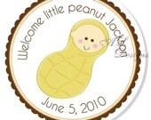 Personalized Stickers -- Little Peanut -- Personalized Shower Labels, Address Labels, Shower Favors -- Choice of Size