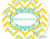 Personalized Stickers -- Chevron -- Personalized Labels, Family Adress Labels, Wedding Favor Labels -- Choice of Size