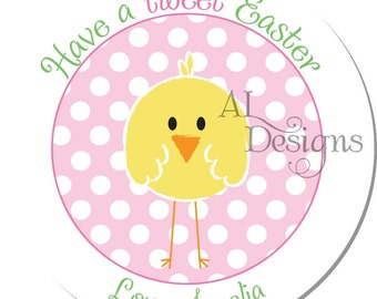 Personalized Easter Stickers -- Chick -- Personalized Easter Labels, Address Labels, Party Favors, Easter Labels -- Choice of Size
