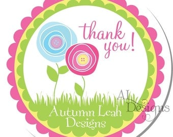 Personalized Stickers -- Posies -- Personalized Sticker, Personalized Label, Personalized Favor Label -- Choice of Size