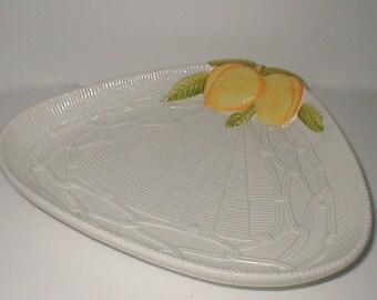 Georges Briard Lemon Basket Platter - Vintage 1960's