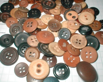 Vintage Browns -- Buttons