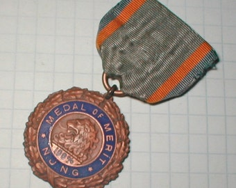The Medal of Merit-- Vintage 20s - Finally - 100 Percent - Yay for You