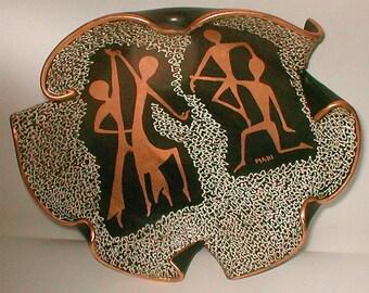 Mid Century Console Bowl  Signed Mari - HJB  Vintage 1950's -  Italian Modernist Ceramic Sensation