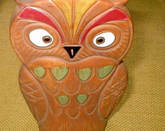 Owl Save Your Pennies      Owl Bank     Vintage Norleans Ceramic