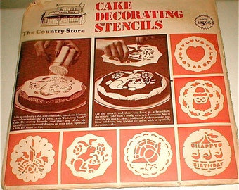 A Cake For All Seasons -- Vintage Cake Stencils from The Country Store