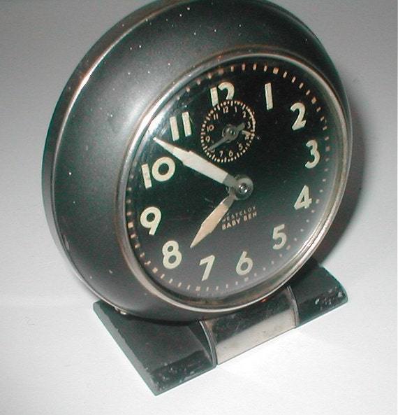 Deco Baby Ben Alarm Clock Vintage Wind Up Bedside Travel