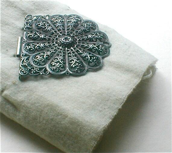 Antique Filligree Buckle - Silver - European 1900s - Half Piece
