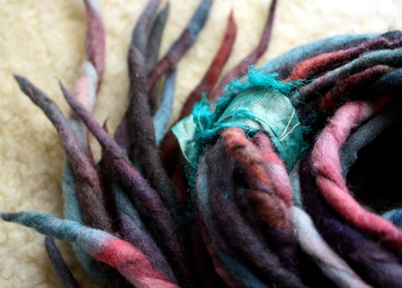 Faerie Spun Dreads - Handmade Felted Wool Double Ended Dread Falls