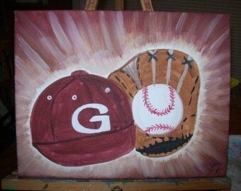 Take me out to the ball game custom canvas art