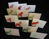 20 Handmade kimono silk note cards with envelopes-