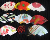 Japanese Kimono Silk Greeting cards -set of 3