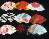 Handmade Vintage  Japanese Kimono Silk greeting cards - 3 cards