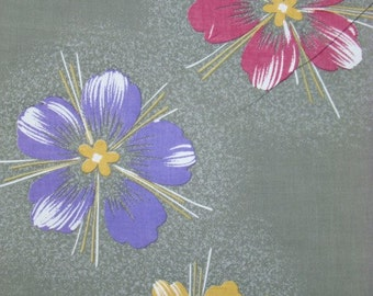 Retro Cotton vintage Japanese kimono fabric panels