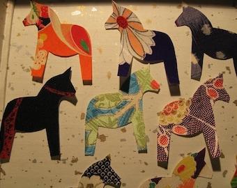 Baby shower : Set of 15 handmade kimono silk placecards