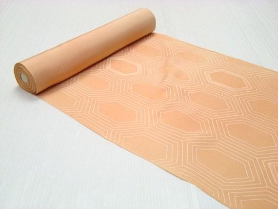 Apricot Japanese kimono silk panel 1 yard