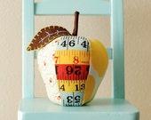 Apple Pincushion Retro Ruler