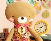 Girl Bear Doll Sewing Pattern PDF Instant Download