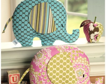 Tilly and Tommy Elephant Softies PDF Sewing Pattern Instant Download