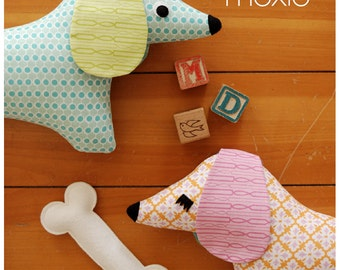Doxie Stuffed Animal Sewing Pattern Tutorial - PDF Sewing Pattern Milo and Moxie Dachshund Softies Instant Download