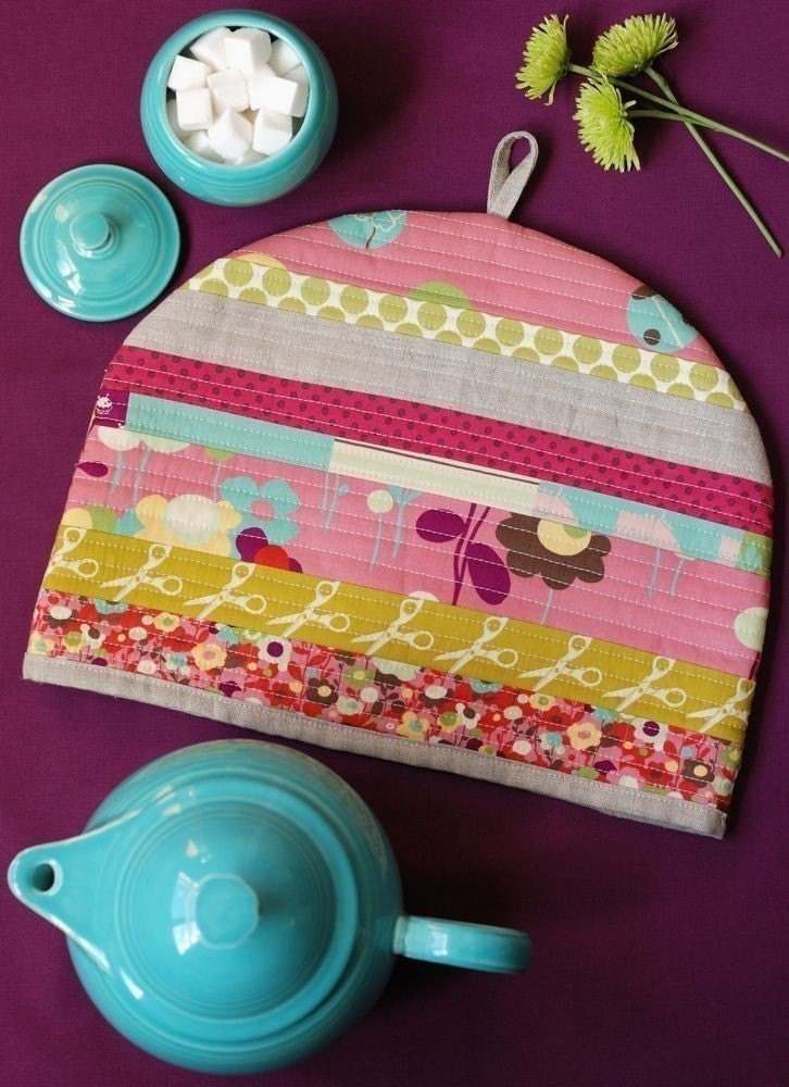 Pdf sewing pattern posy cozies patchwork tea cozy instant for Tea cosy template