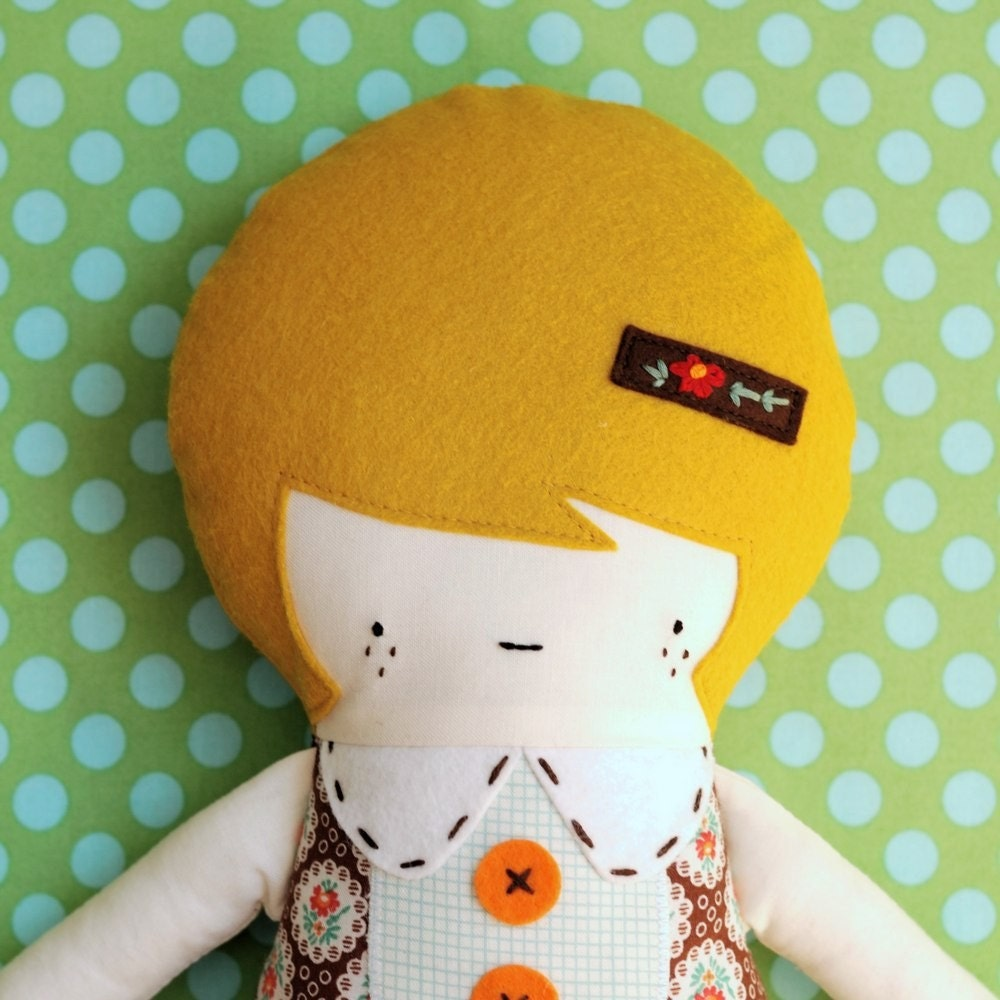 Lucy Handmade Doll By Retromama On Etsy