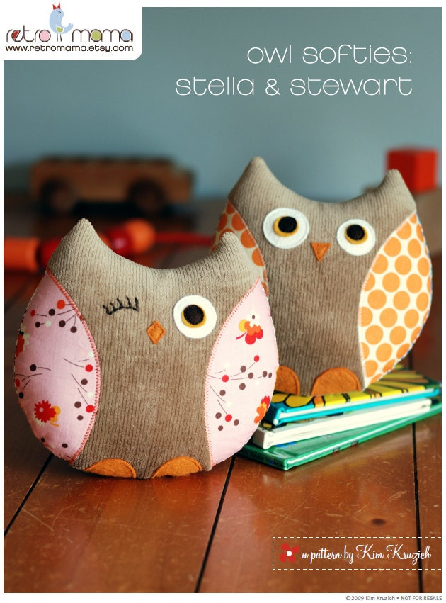 Stuffed Owl Pattern Free Sewing